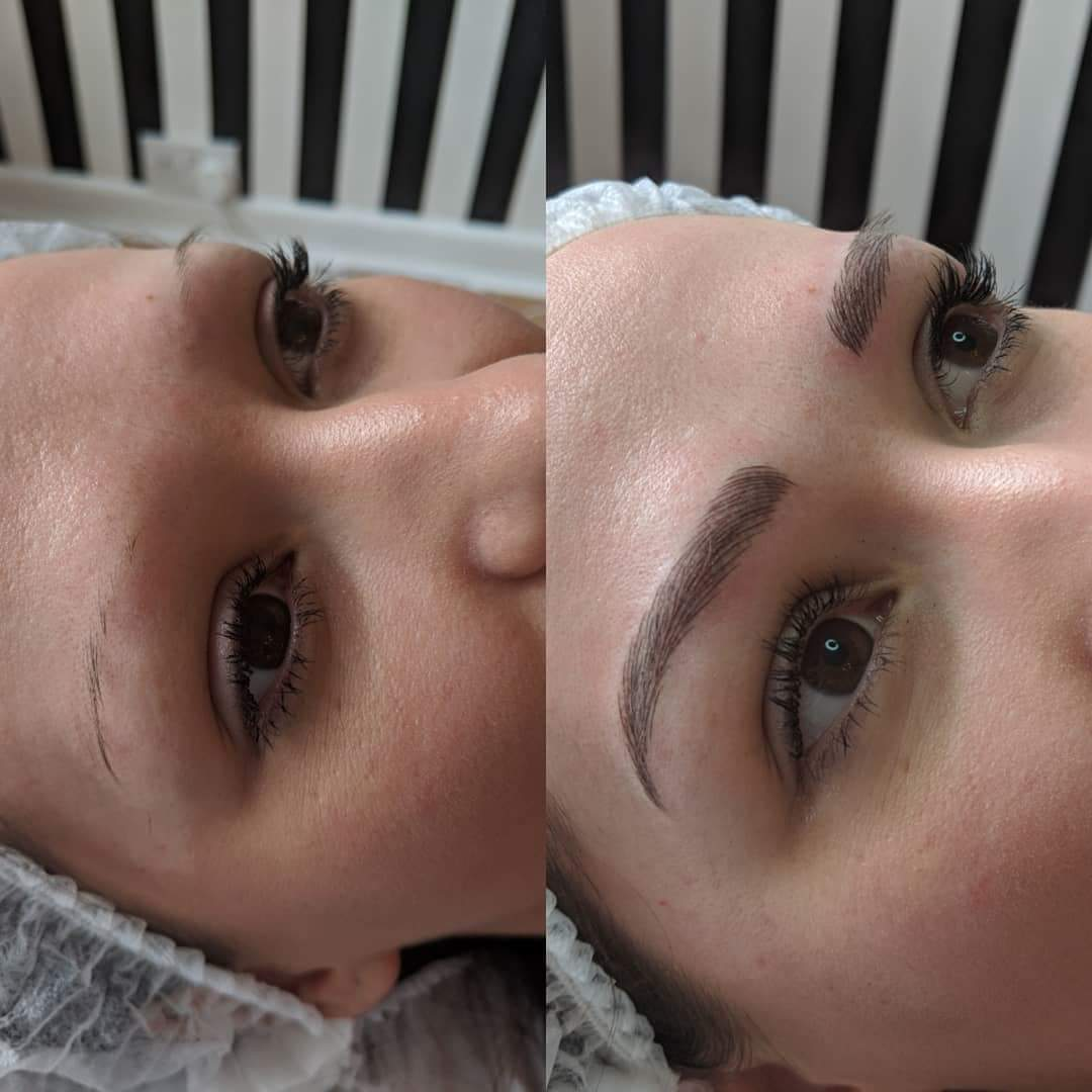 Microblading with Shading created by Andrea Pickford in our Warrington based salon