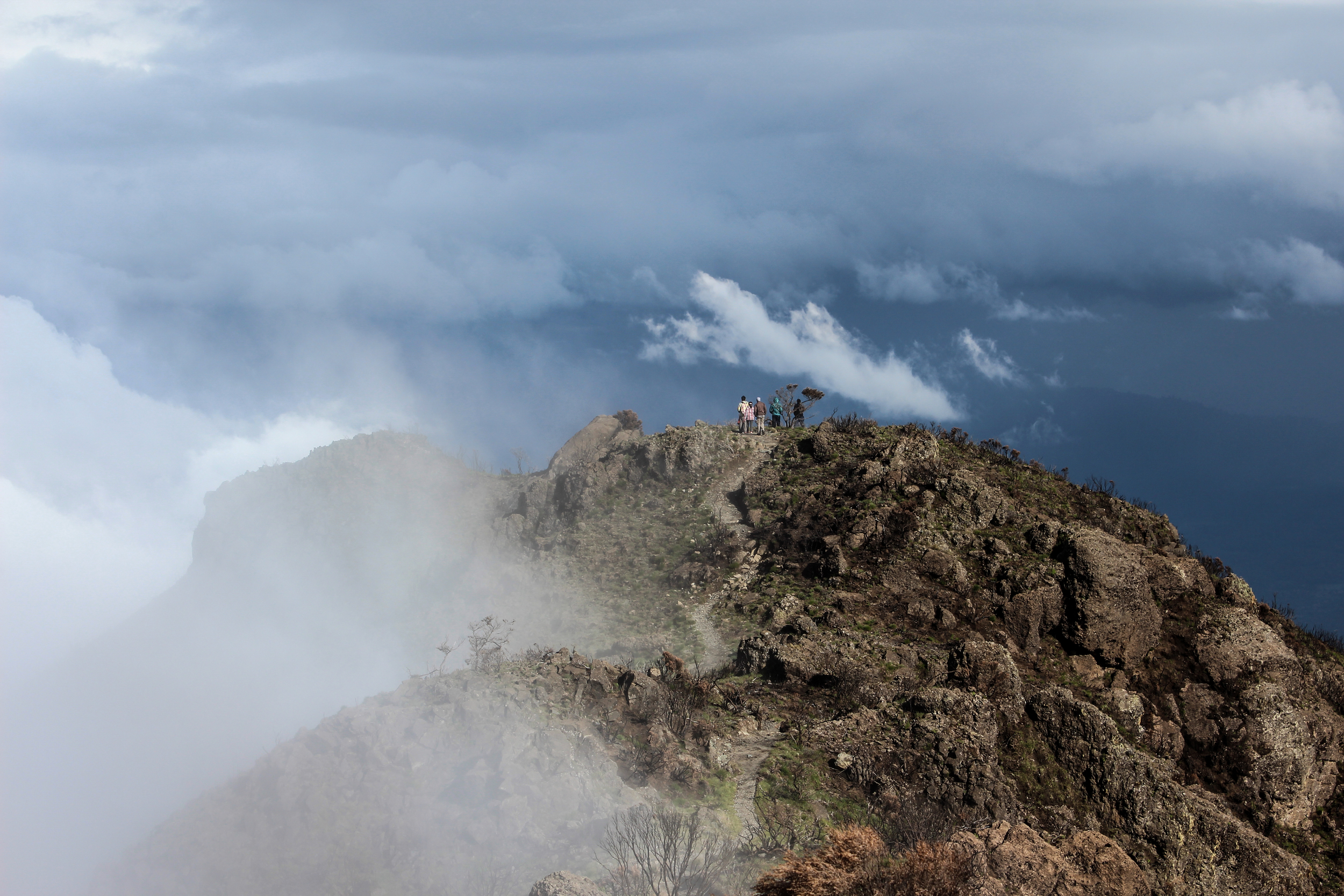 The makings of a mid-afternoon storm as seen from the summit of Little Meru // Arusha National Park, Tanzania