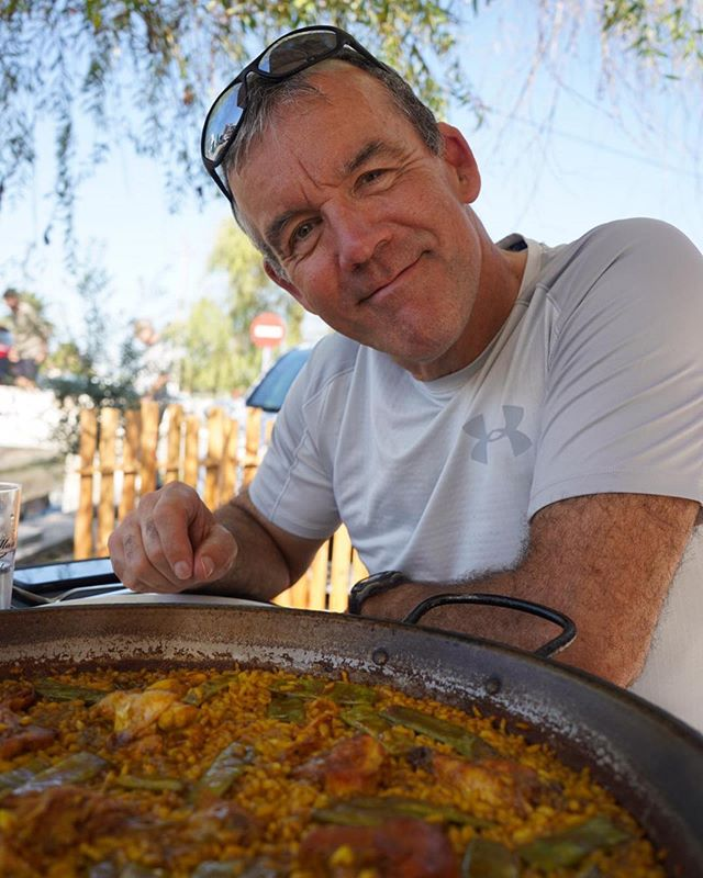 Parents + paella. So lucky to have these two visiting me in Valencia - at long last! Today we cycled to El Palmar, a small town south of Valencia and the birthplace of paella! It is the place to be on a Sunday. 🥘🥘🥘🥘 the classic Valenciana paella has chicken, rabbit, green beans, and lima beans (plus sometimes snails, but personally, yuck). You don't have to wonder why paella originated in this area — El Palmar is surrounded by rice paddy fields and in the summer the humid air smells like the inside of a rice cooker!