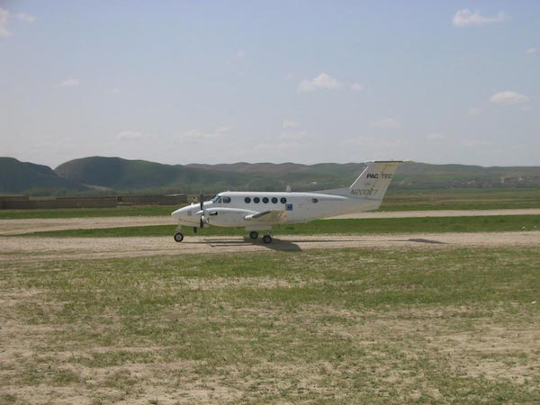 The little plane that brought my friend and I here from Kabul