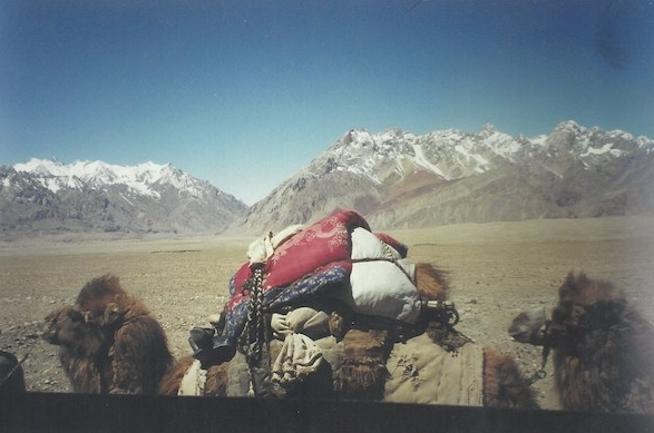 View out of my bus between Pakistan and Kashgar
