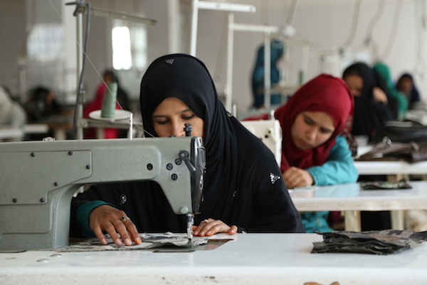 Female sewing machine operators were a sight rarely seen in Afghanistan prior to Maharat's training programs