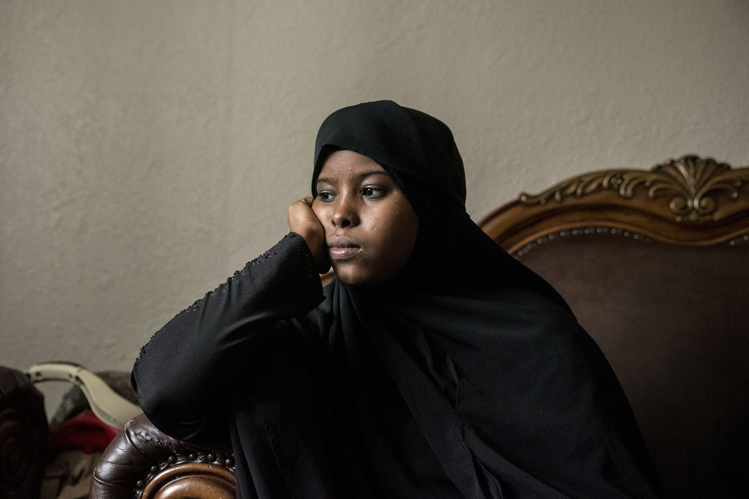 """Hamdi Kosar rests in her apartment Mar. 30. Kosar does not have much free time because of her many obligations. Despite having been in the United States for only several years, she said she feels as if she has found her place in the community most of which has been through her activism. """"Life will push you to the edge until you say, 'I'm ready to get up,'"""" Kosar said. """"When you believe that God is with you throughout the entire way, when you have that trust, you are no longer fearful. That's why I a do what I do and try and give back to the community."""""""