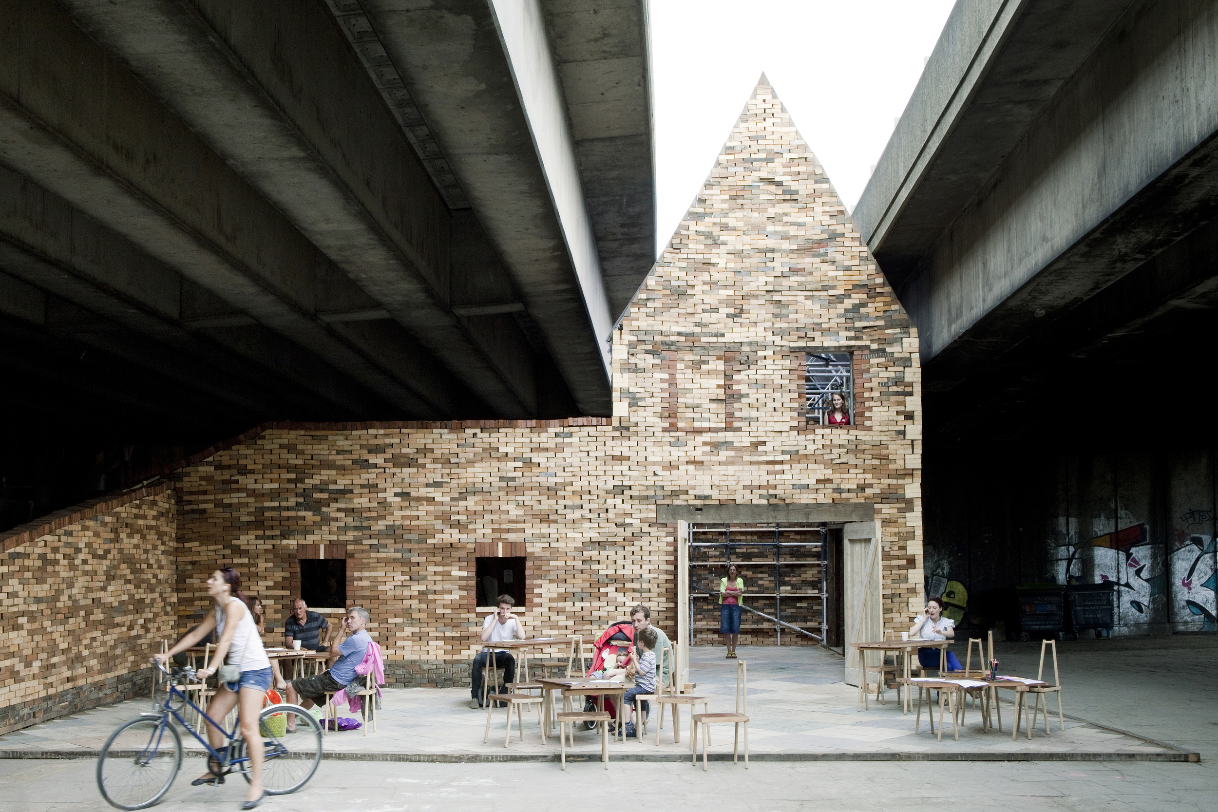 'Folly for a Flyover', 2011. Photo by David Vintiner. Image courtesy of  Assemble .