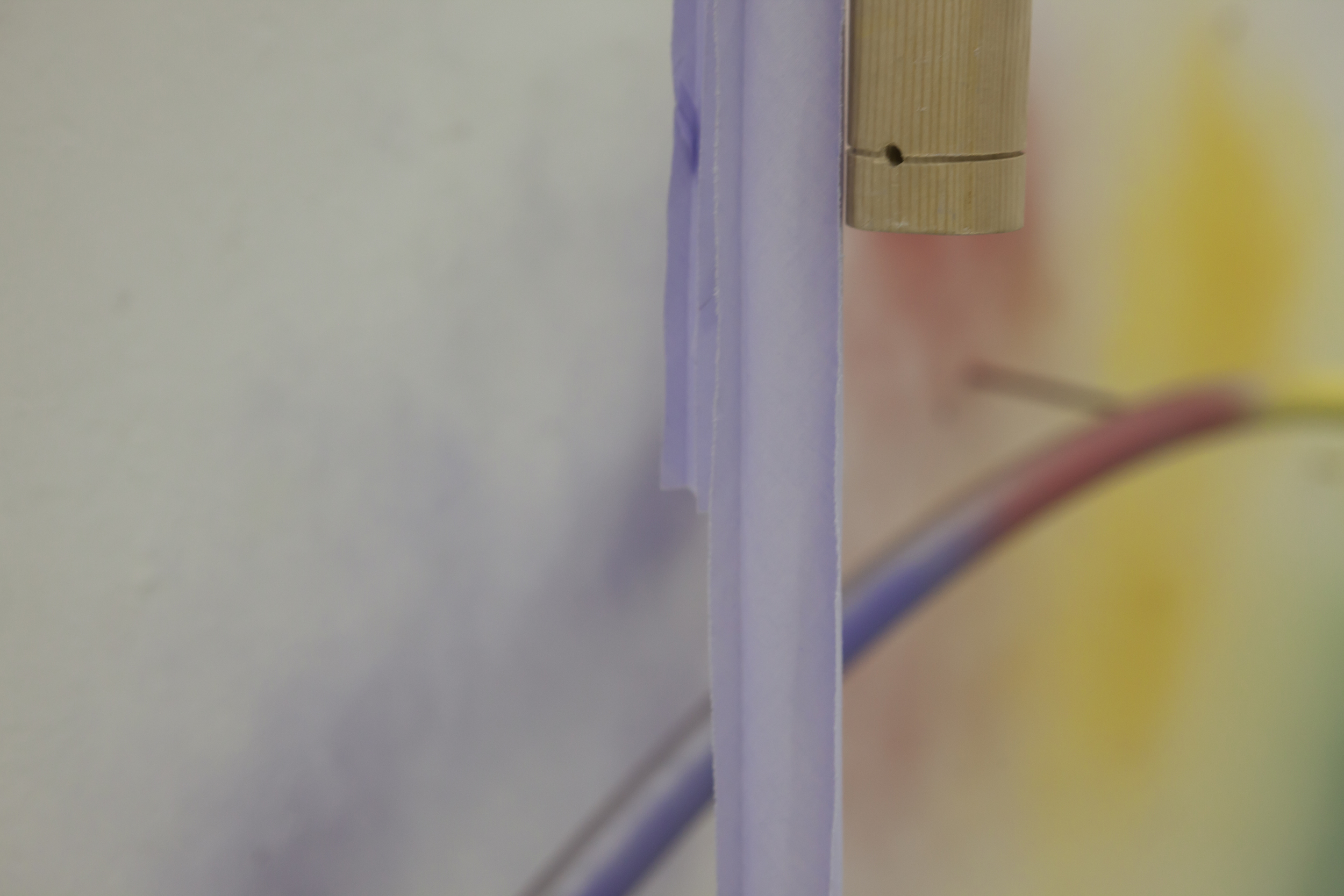 Close up of  How To Make A Rainbow Or Arch Appear In The Sky , 2015, mixed media.