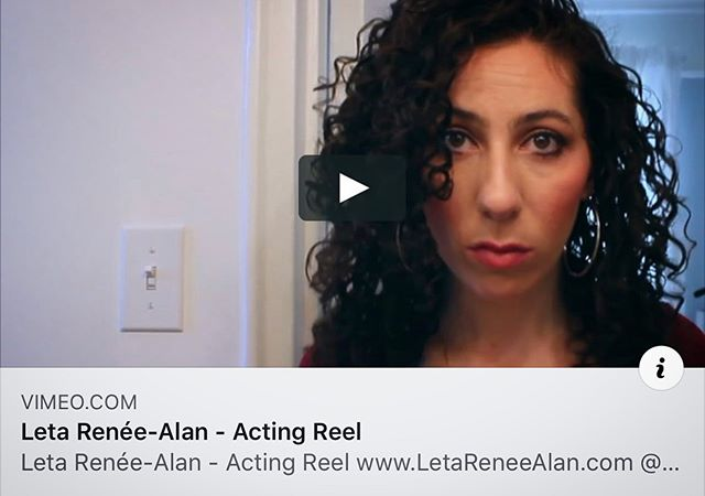Cast me! Finally got a reel together. More to come. Find it on my website. www.LetaReneeAlan.com (link in bio). #reellife #actorsgrind #castme #forreal #imready