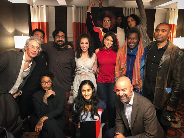 Had so much fun performing with this crew last night in #thepeoplespeak Voices of a Peoples History @lincolncenter! Let us continue to use our #voices #riseup #resist