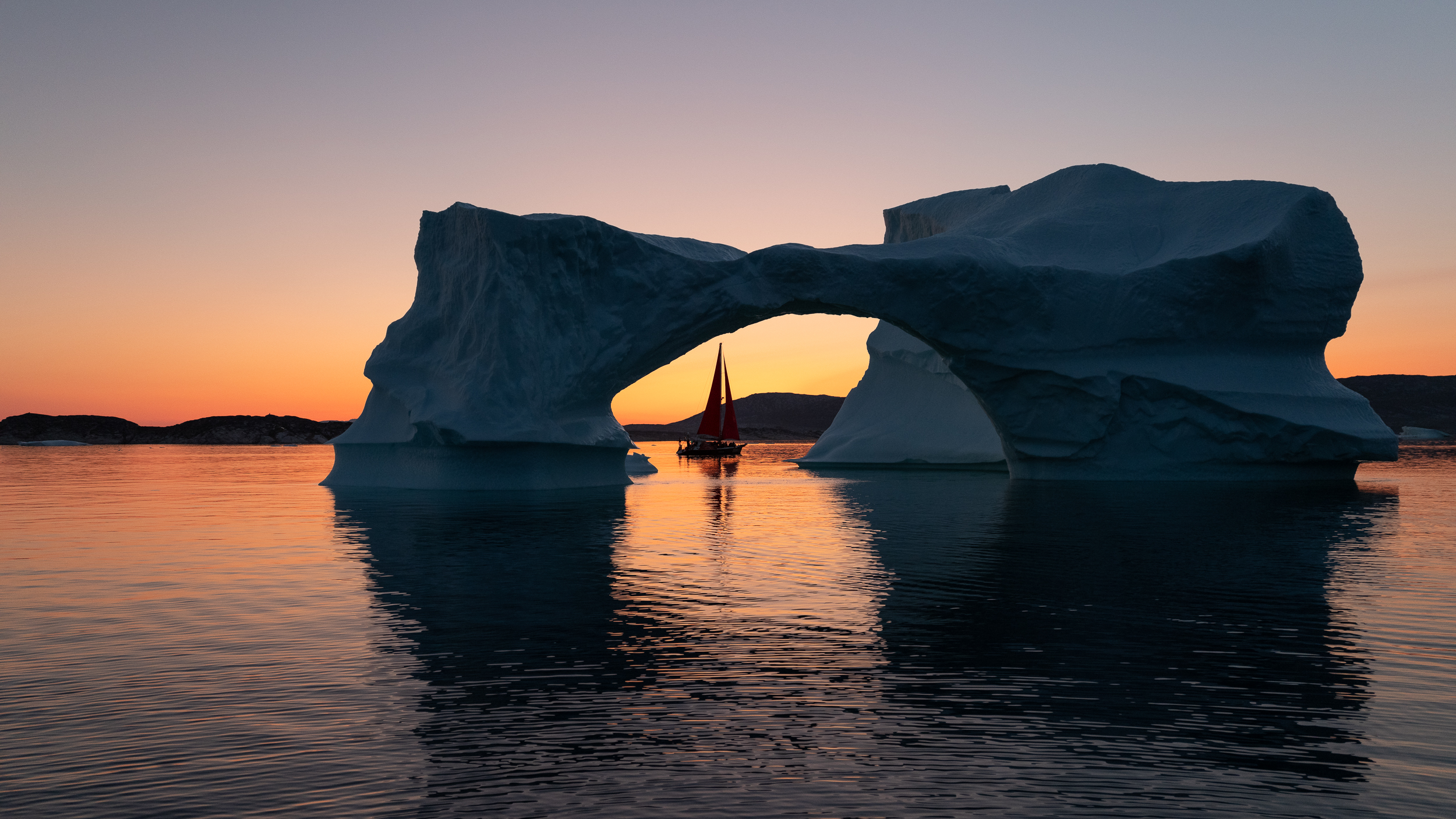 Midnight Sun, Disko Bay, Greenland