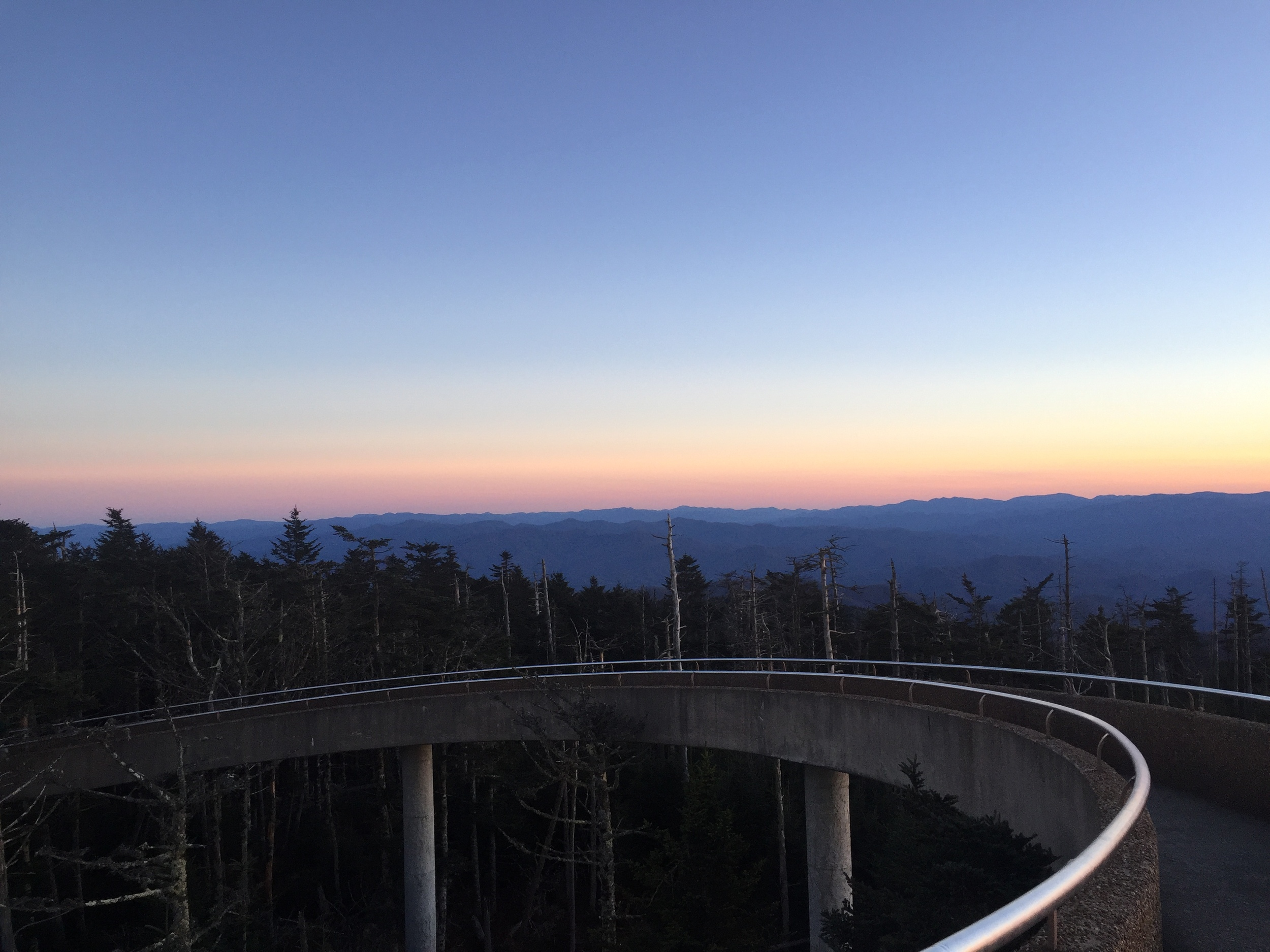 Clingmans Dome pictured at sunset courtesy of  Marc Crosby .