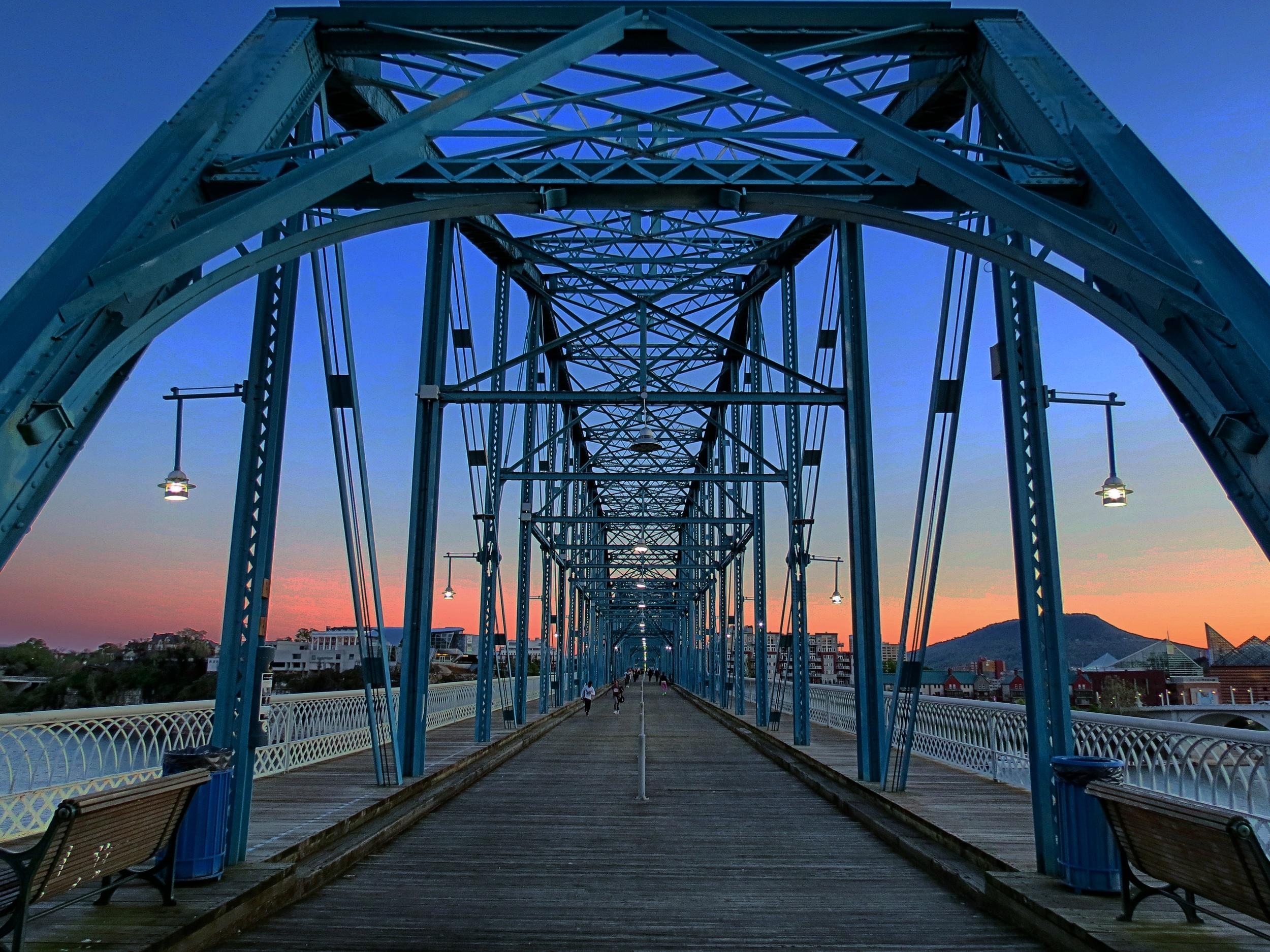 The Walnut Street Bridge courtesy of  Tony Fox