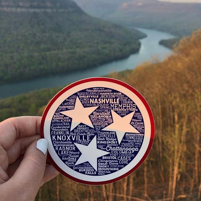 Tristar Destinations Decal Sticker Tennessee Nashville Knoxville Murfreesboro Chattanooga Memphis Fall Creek Falls Smoky Mountains Clarksville