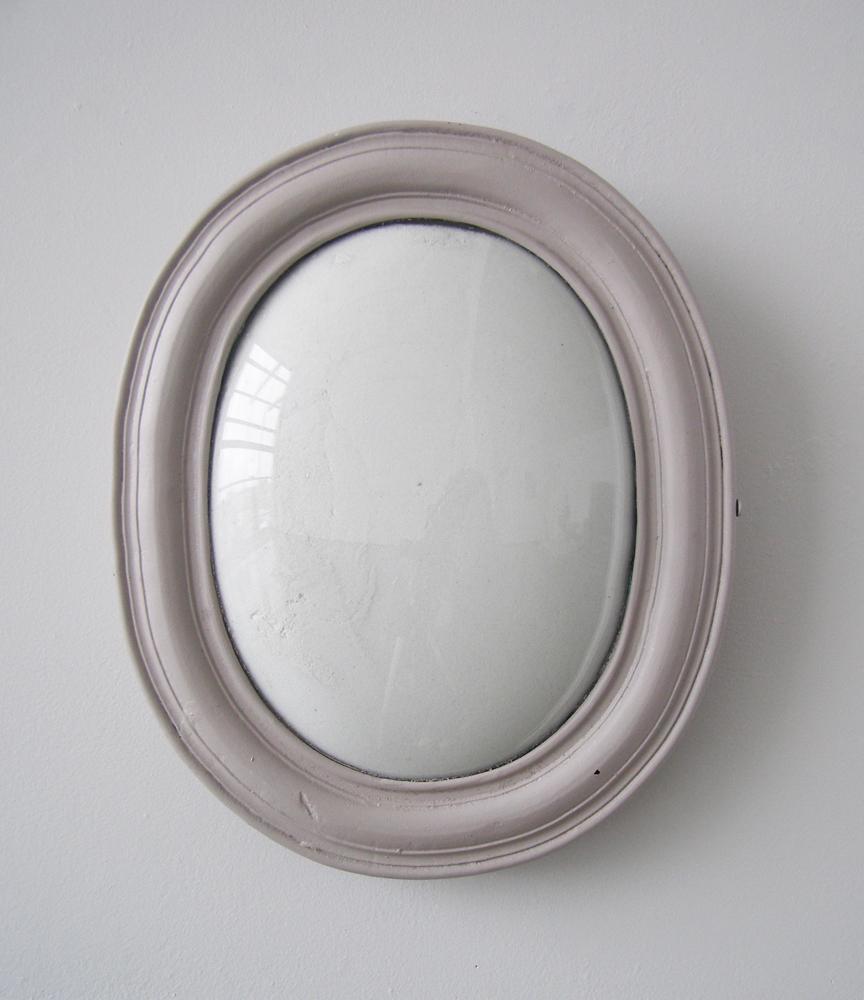 """Untitled (Bone Ash) , 2010     frame, convex glass, ten pounds bone ash 10"""" x 12"""" x 4"""""""
