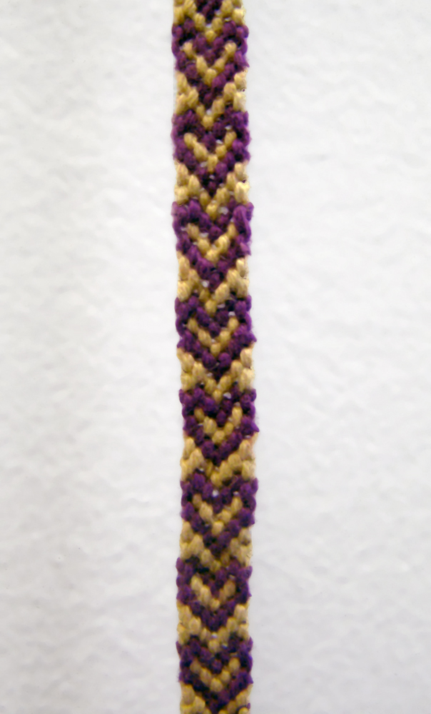 """Friendship , Detail,2011 Knotted embroidery floss 3/8"""" x 1"""" x 5'"""