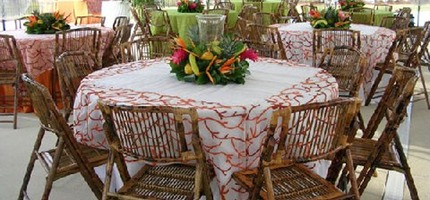 Table and chair rentals in miami