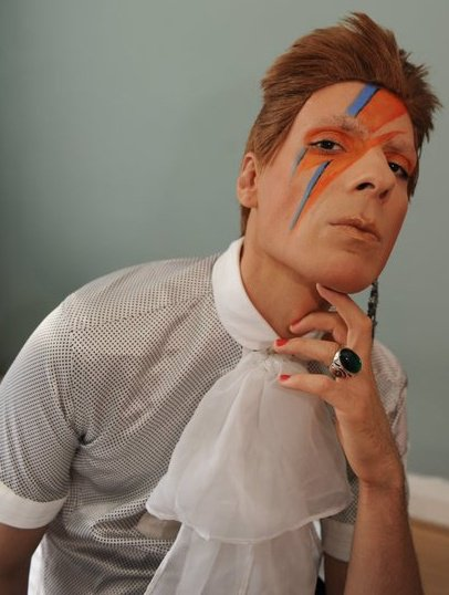 Performance artist Jovan Matic as David Bowie   Role: Make-up artist artist team with Kristina Myslyvtseva