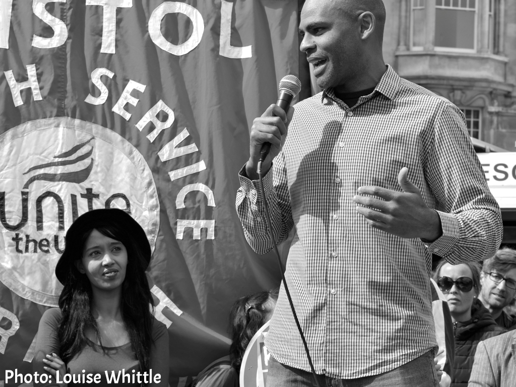 Marvin Rees speaking at 'Refugees are Welcome Here' rally - Bristol, September 2015