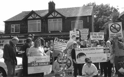 Anti-fracking activists in Upton, Cheshire  Photo:Matt Bryan
