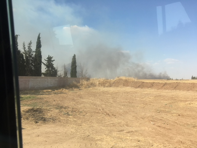 Burning wheatfields