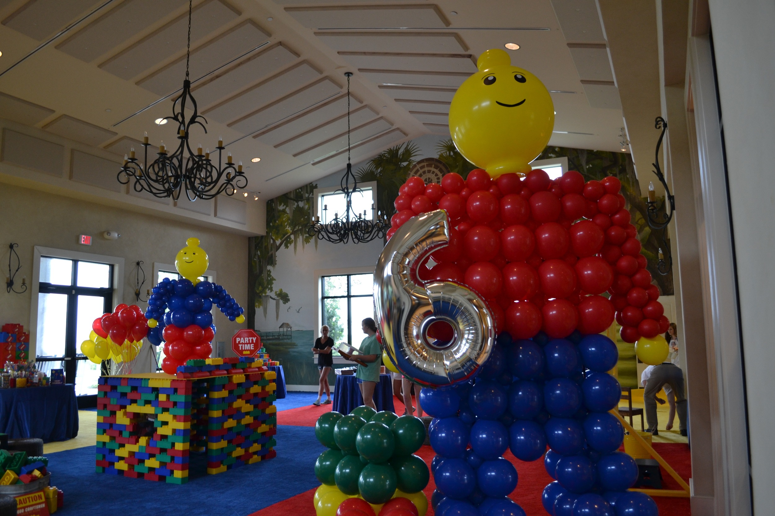 Let balloons great your guests upon arrival!