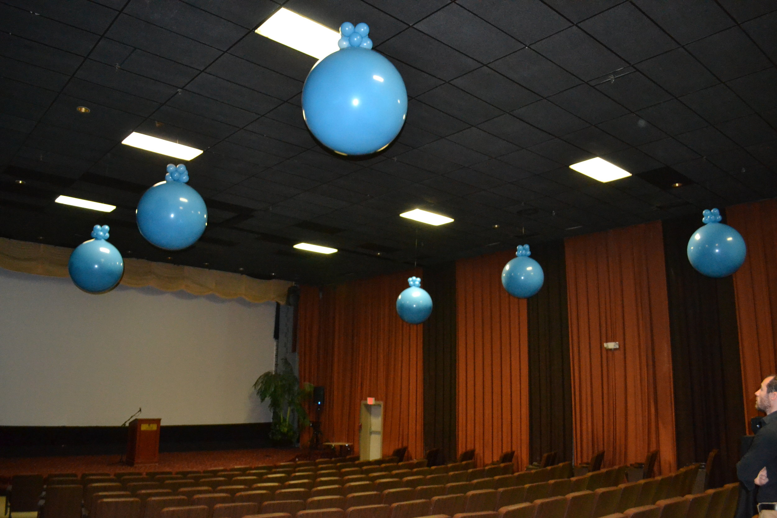 Jumbo exploding balloons for corporate launch