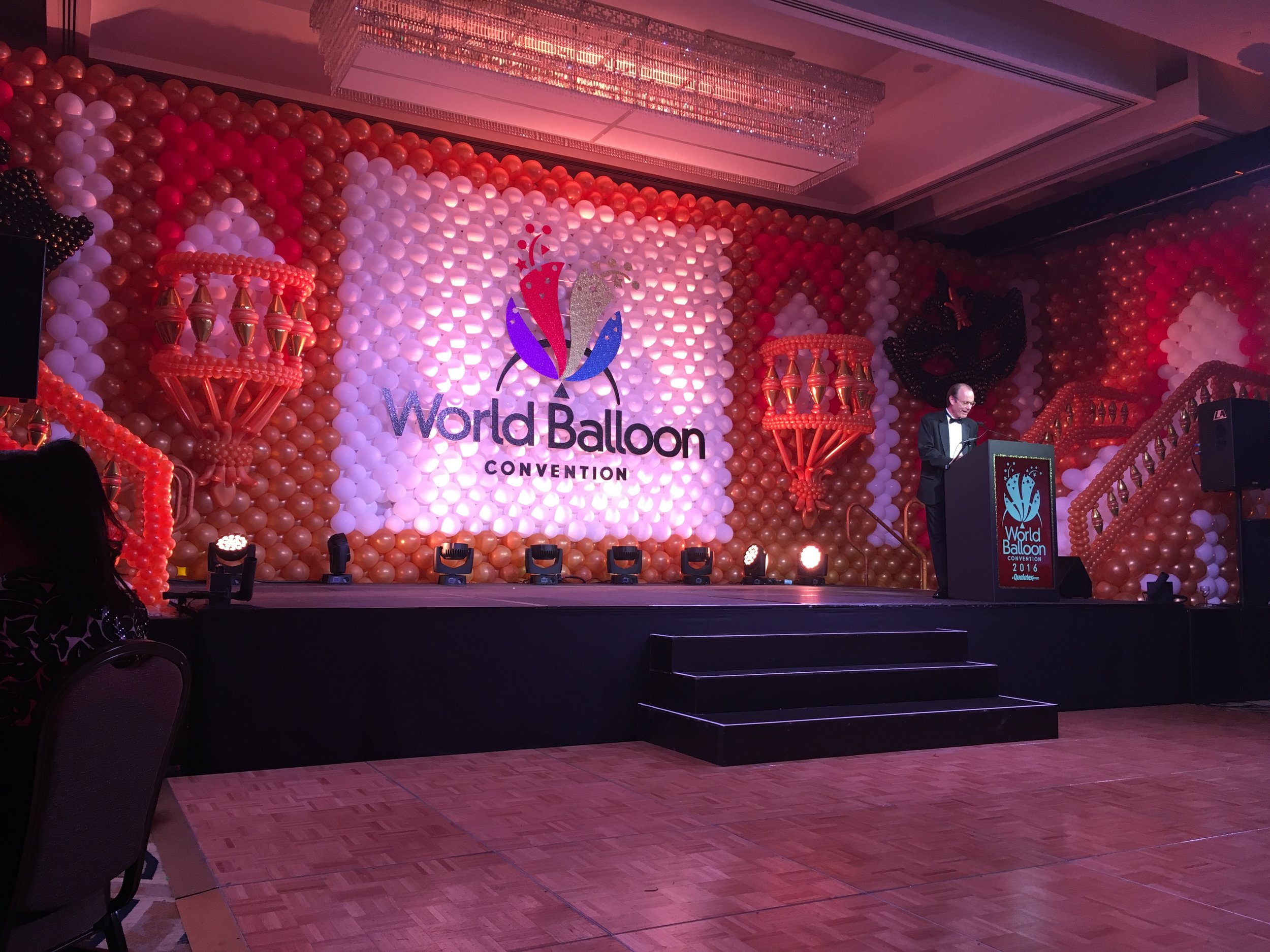 Grand Gala Stage...yes, that is all balloons!