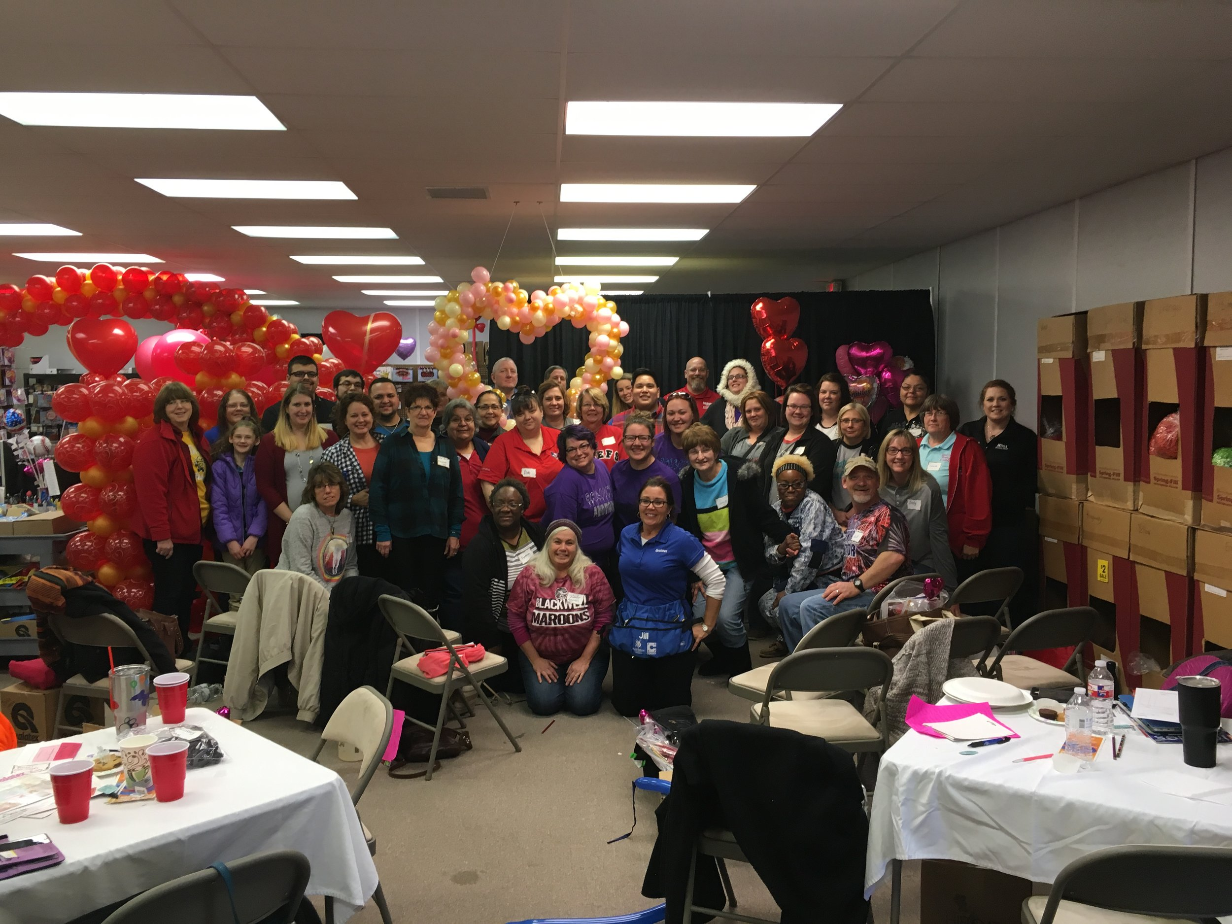 Look at all these smiling faces at Balloon World in Andover