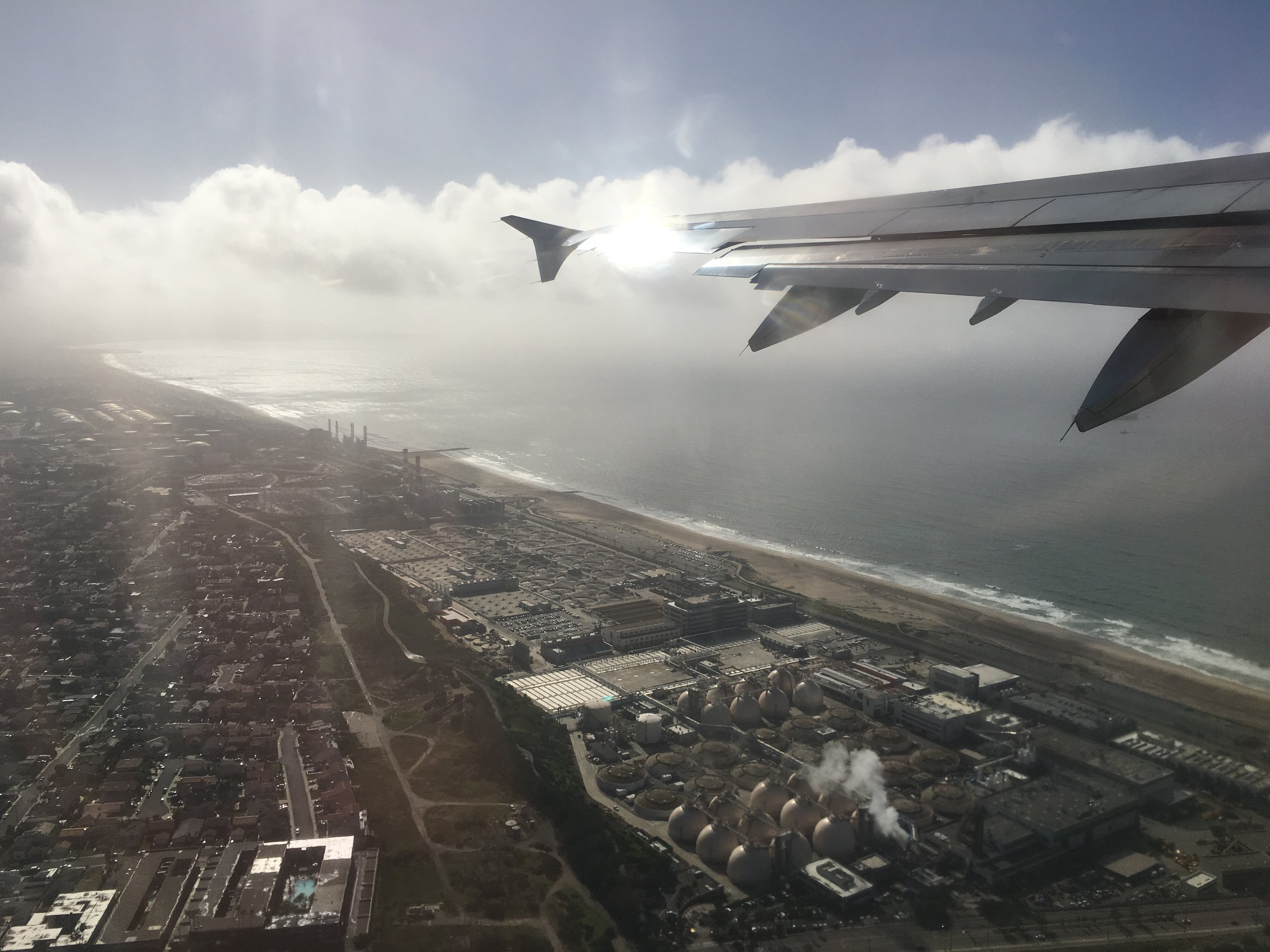 Bye, Bye LA - First time I have seen the Pacific Ocean