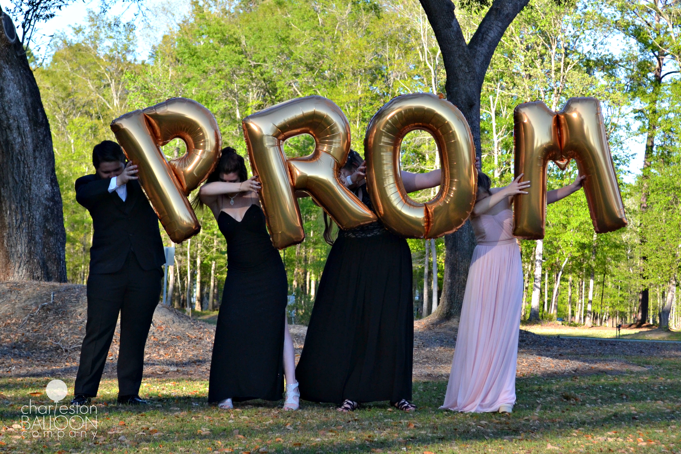 Gold PROM Giant Letters