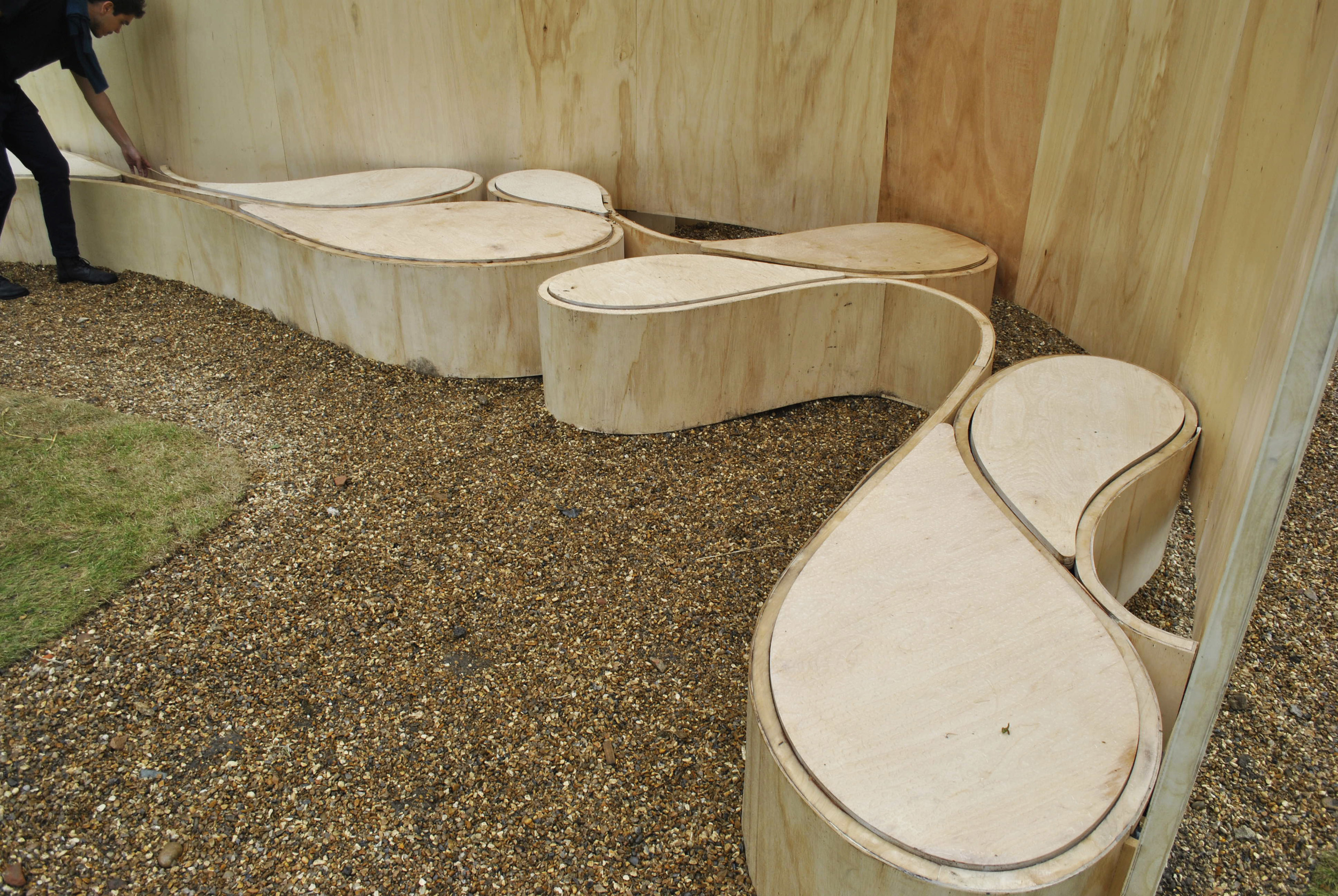 ©Detail Movement - Serpentine Gallery Summer House Barkow Leibinger - 1st level of structural bands