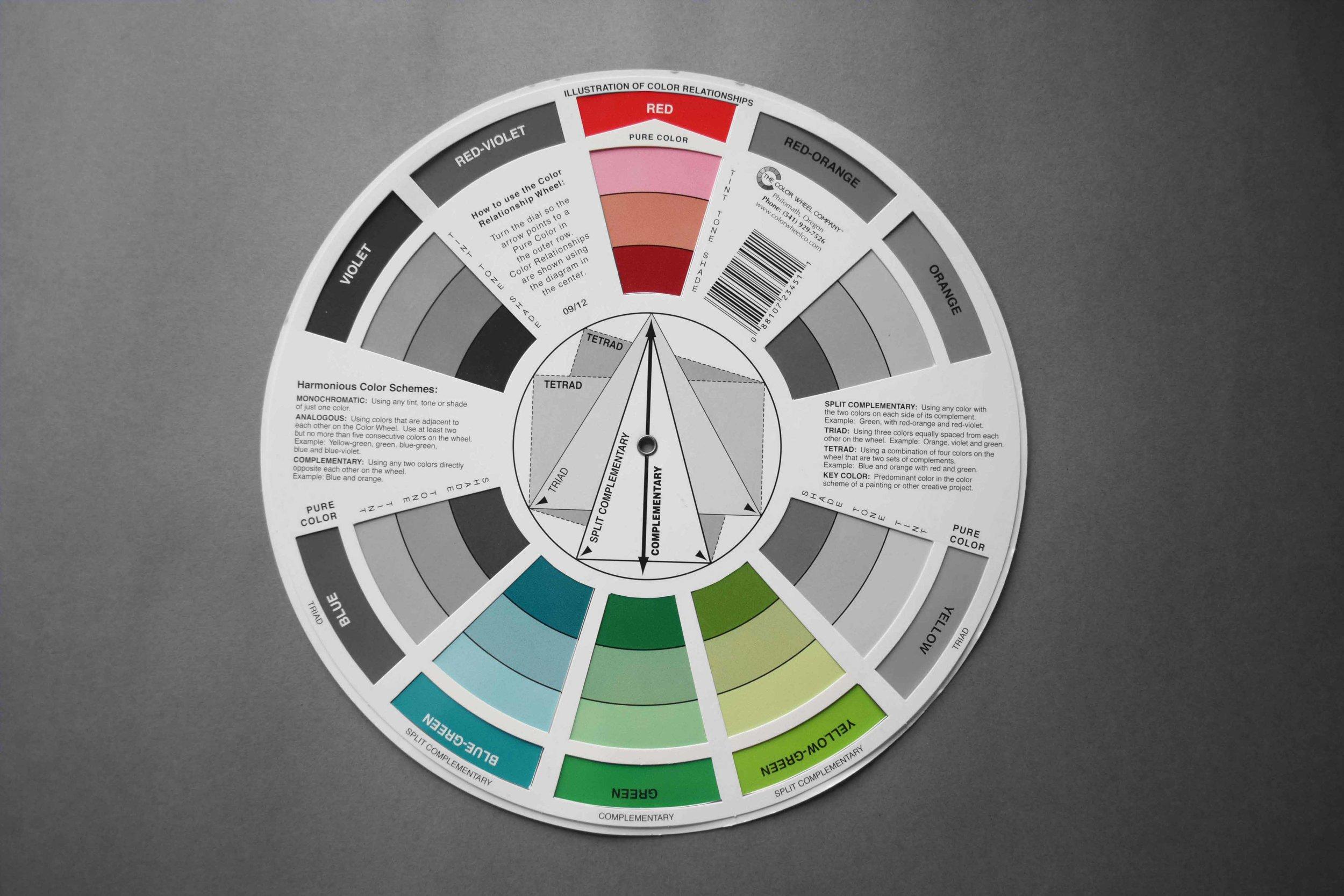 Colour wheel_Split Complementary_©Detail Movement