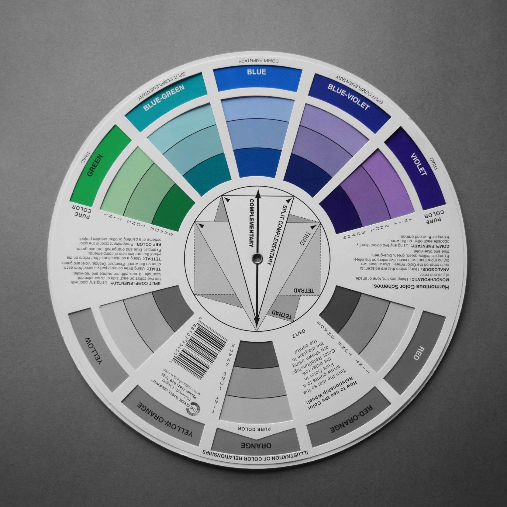 Colour wheel_Cold Colours_©Detail Movement