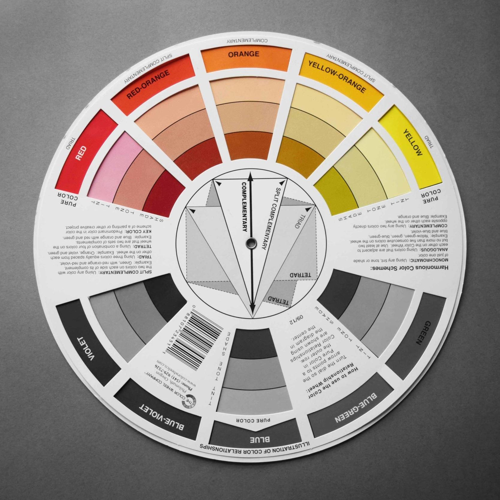 Colour wheel_Warm Colours_©Detail Movement