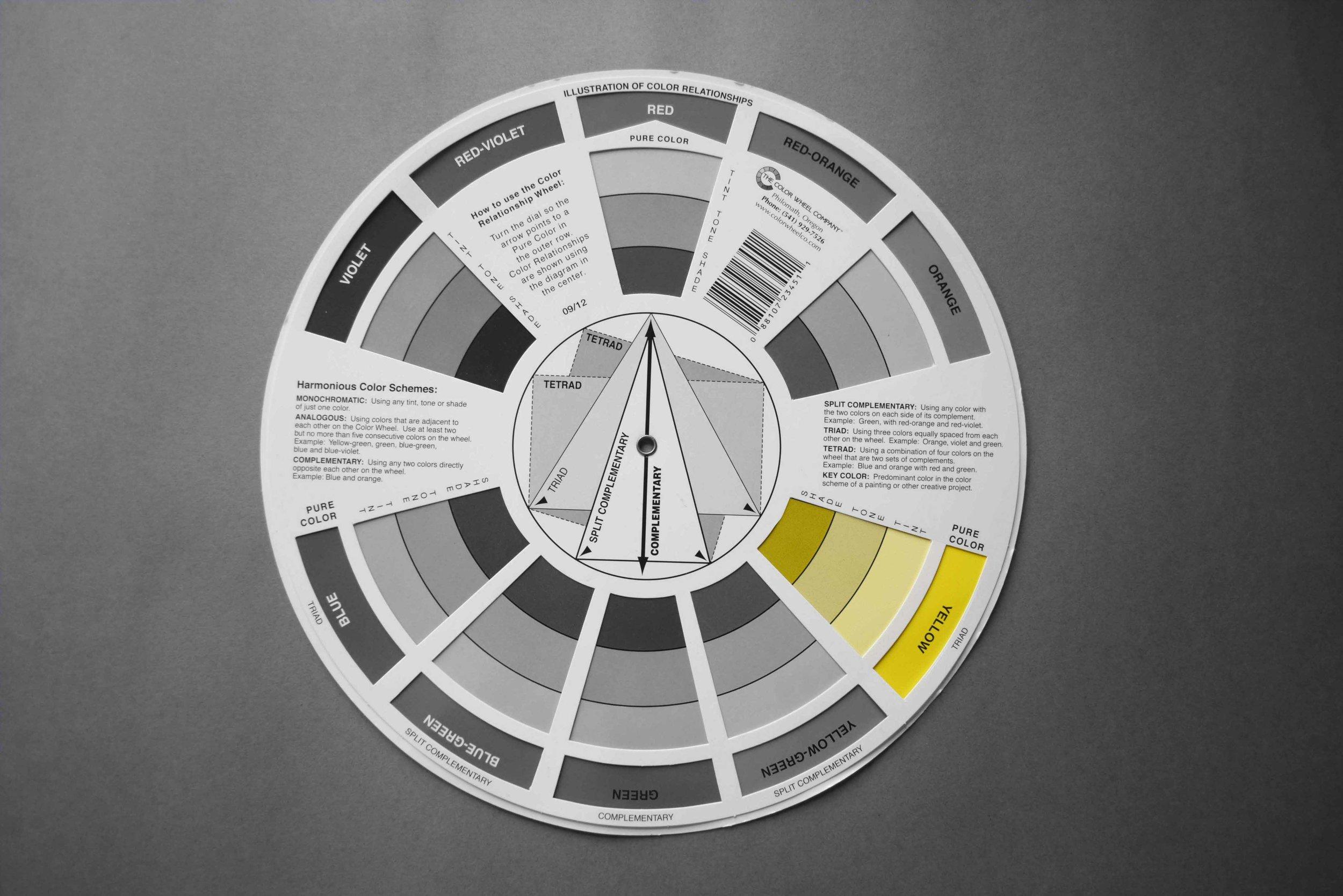 Colour wheel_Tint Tone Shade_©Detail Movement