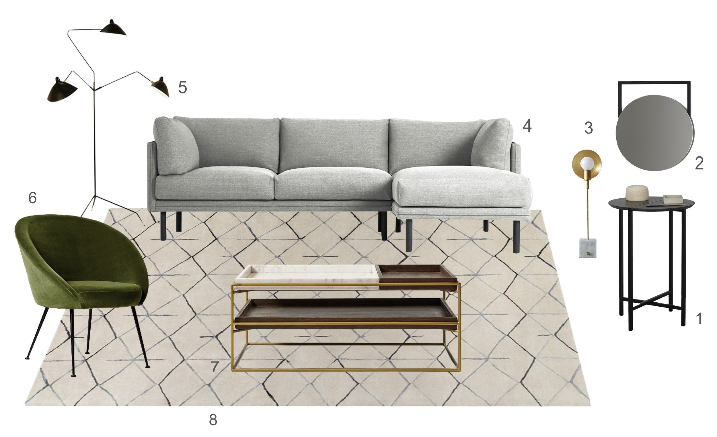 Get the look no 9 Casual Living Room ©Detail Movement 2