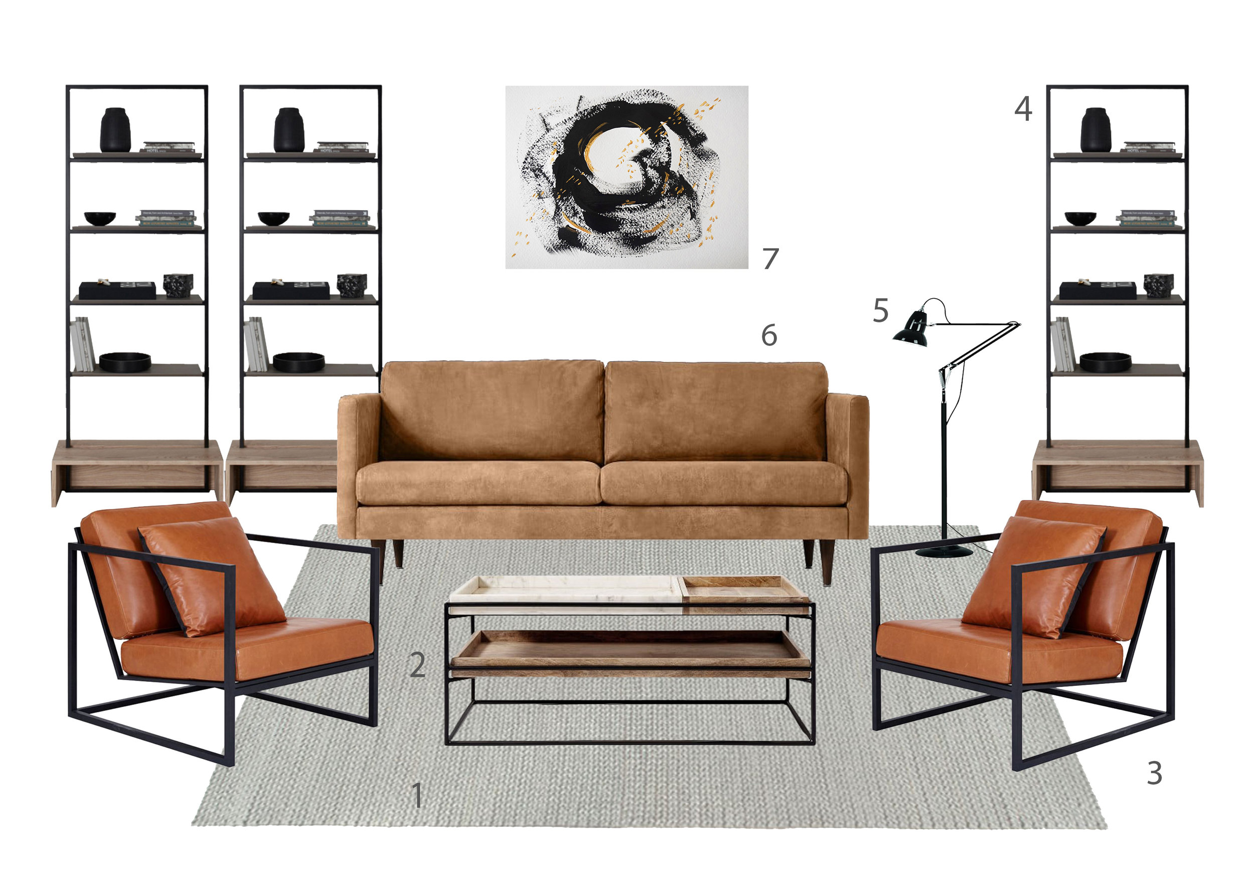 Get the look 12 Industrial Living Room ©Detail Movement