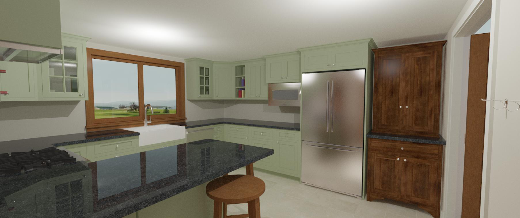 The 3D model is rendered in the Chief Architect software.