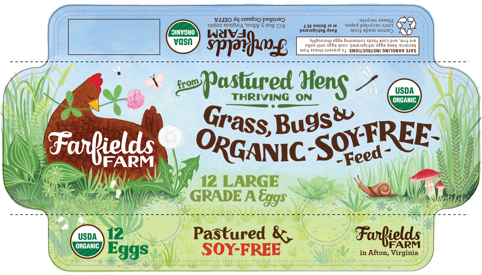 Farfields Farm Egg Carton