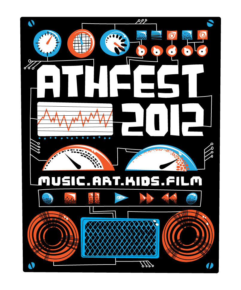 Athfest 2012 T-shirt Design