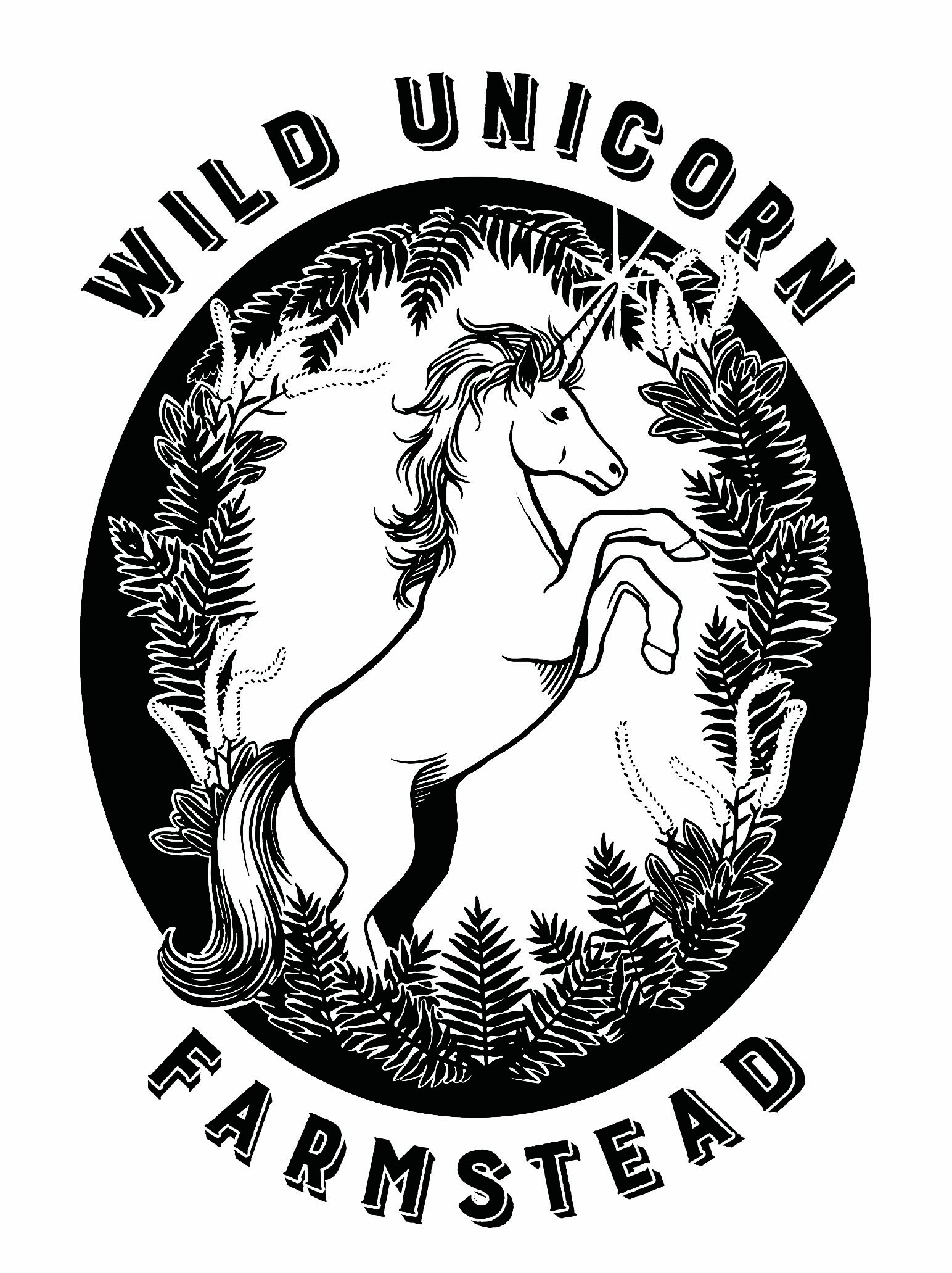 Wild Unicorn Farmstead Logo