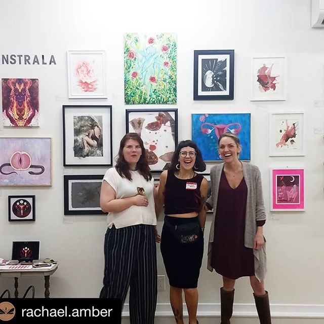 So glad to be a part of the beautiful @menstrala_philly show at @thecommonroomphilly ❣️ & very grateful to the organizing artists for creating space for those who bleed to connect and be seen in celebration! My work will be in Philly at the Common Room until June. 🌹  #Repost @rachael.amber with @get_repost ・・・ I cannot express in words how grateful we are for everyone who was a part of Menstrala this weekend. ❤ I am humbled by all the amazing artists who submitted, all who we could display, all the people who made the effort to come out and join us at the preview opening, and all who were with us in spirit from a distance. The night truly held all that this show was meant to create: community, empowerment, and celebration of the natural cyclical human! ... 🌑🌒🌓🌔🌕🌖🌗🌘🌑 (Check out the rest of @rachael.amber 's thoughtful post on her page!) . #feminist #feministart #menstrualart #menstrualcycle #mooncycle #uterusart #vaginaart #forbiddenfruit #phillyart #menstralaphilly #redtent #menstruation