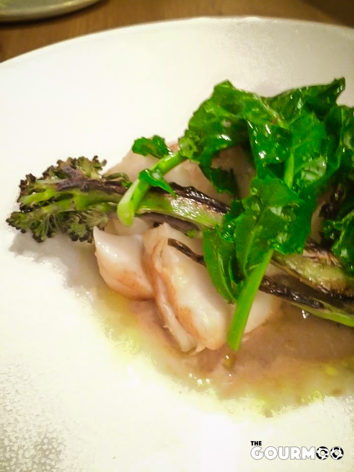 Cod, hazelnut, broccoli and dillisk