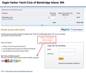 Donations to BHS Sailing Club
