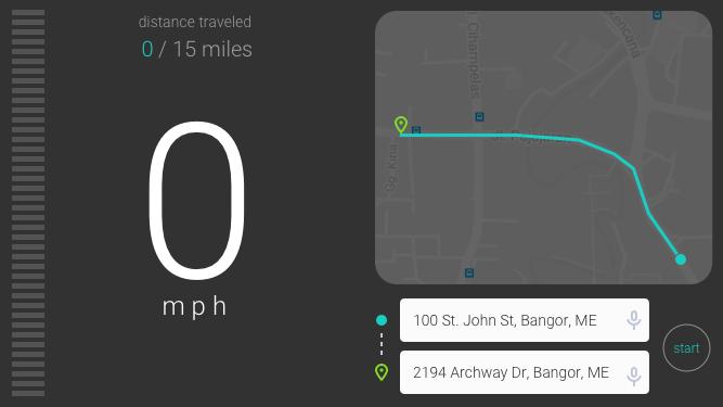 Smart phone app design for a bike speedometer.
