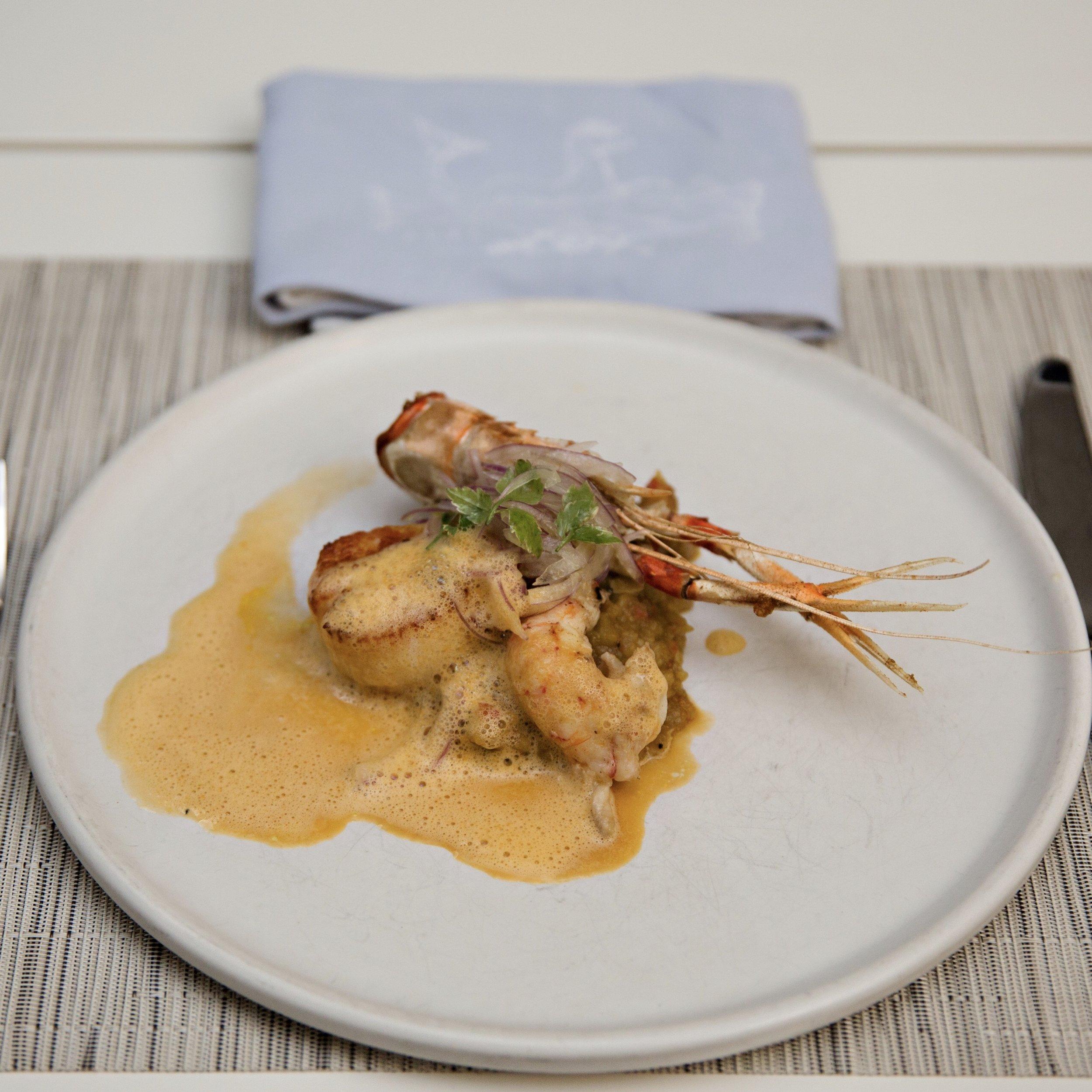 caliza restaurant shrimp
