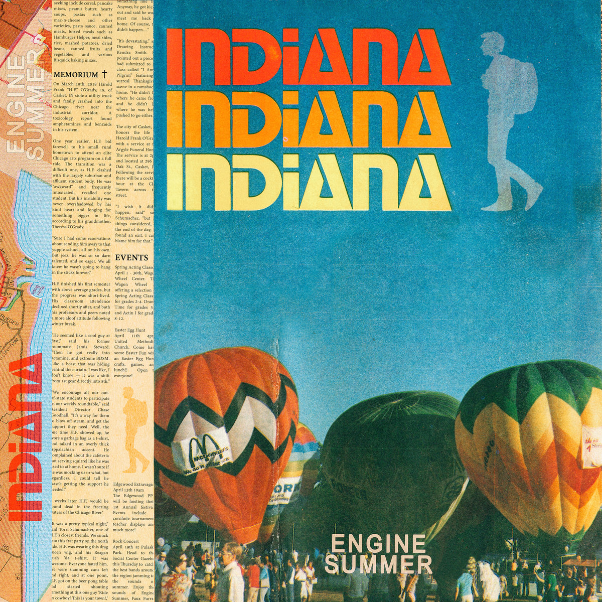 Indiana (2019) is a boozy, groovy, noise punk underdog tale, paying homage to 80s DIY punk, 90s lo-fi indie, and ambient hypnotic rock like Deerhunter, Can and LCD Soundsystem.    — Bruce Berry