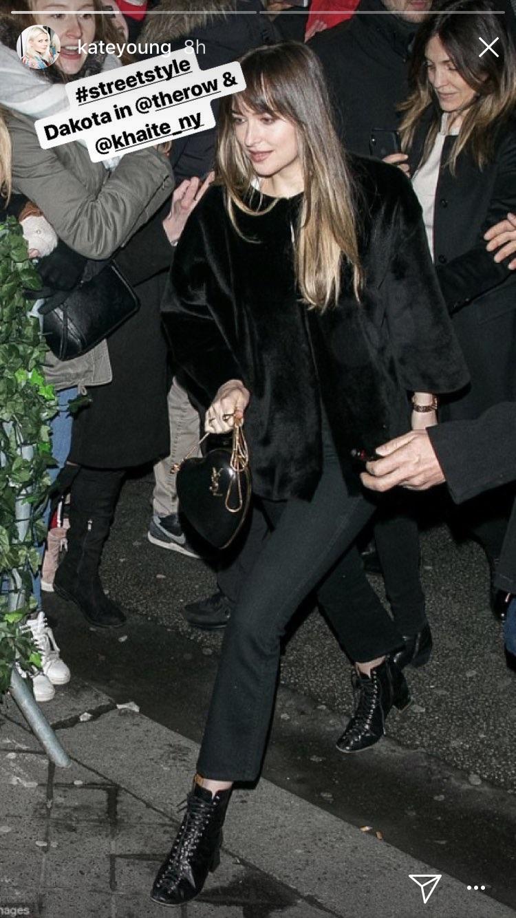 Dakota Johnson in Khaite Jeans