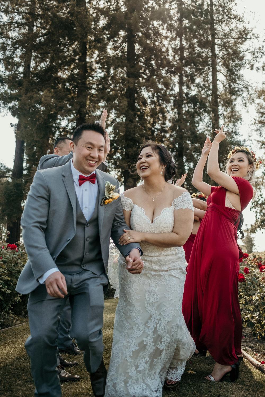 San Jose Rose Garden Wedding Photos