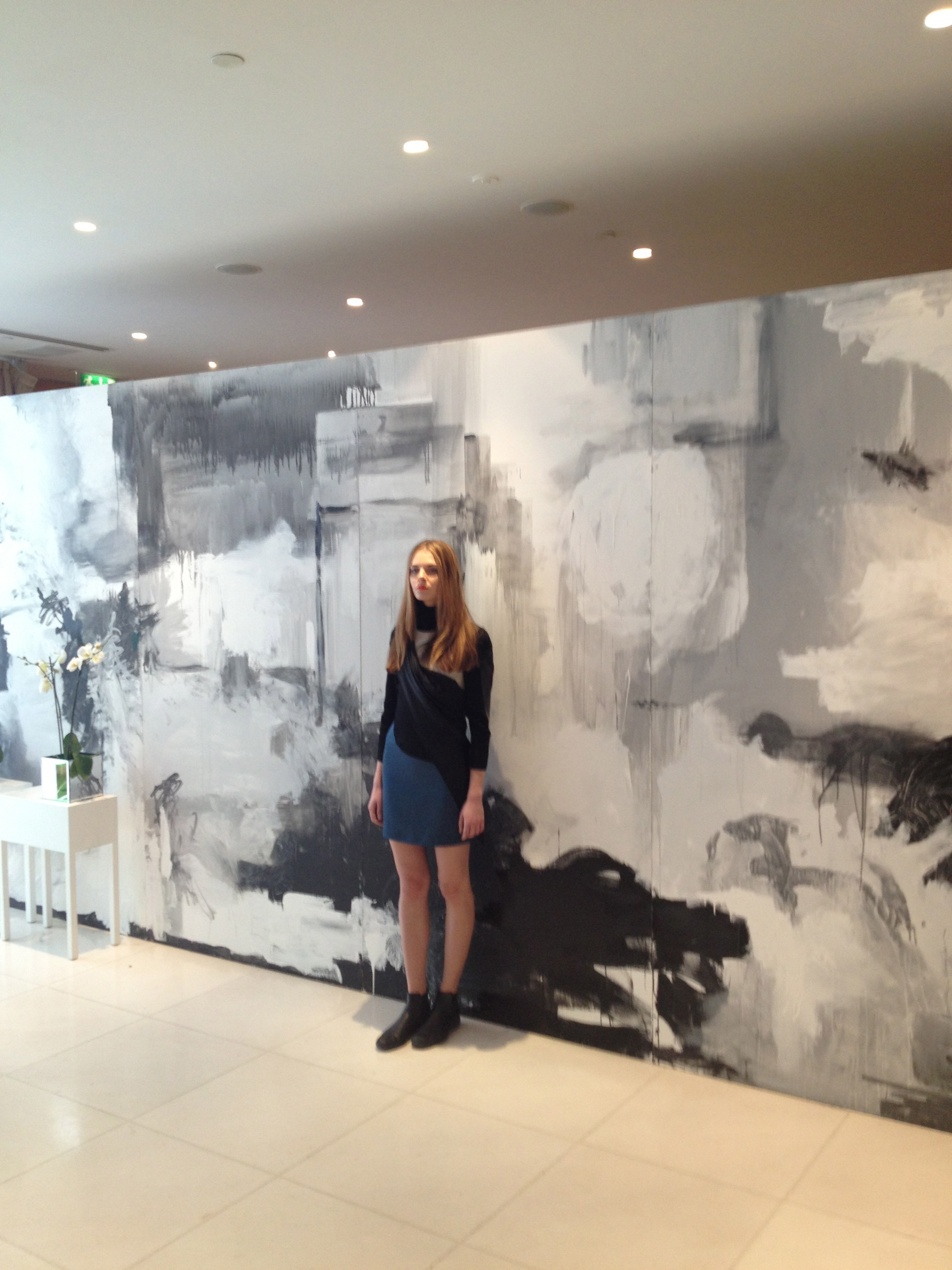 Fashion week backdrop painting