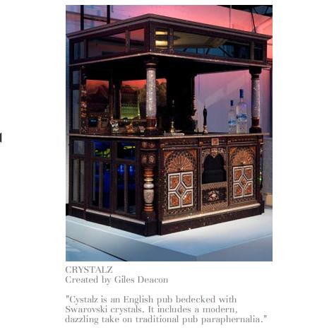 Swarovski crystal-encrusted bar