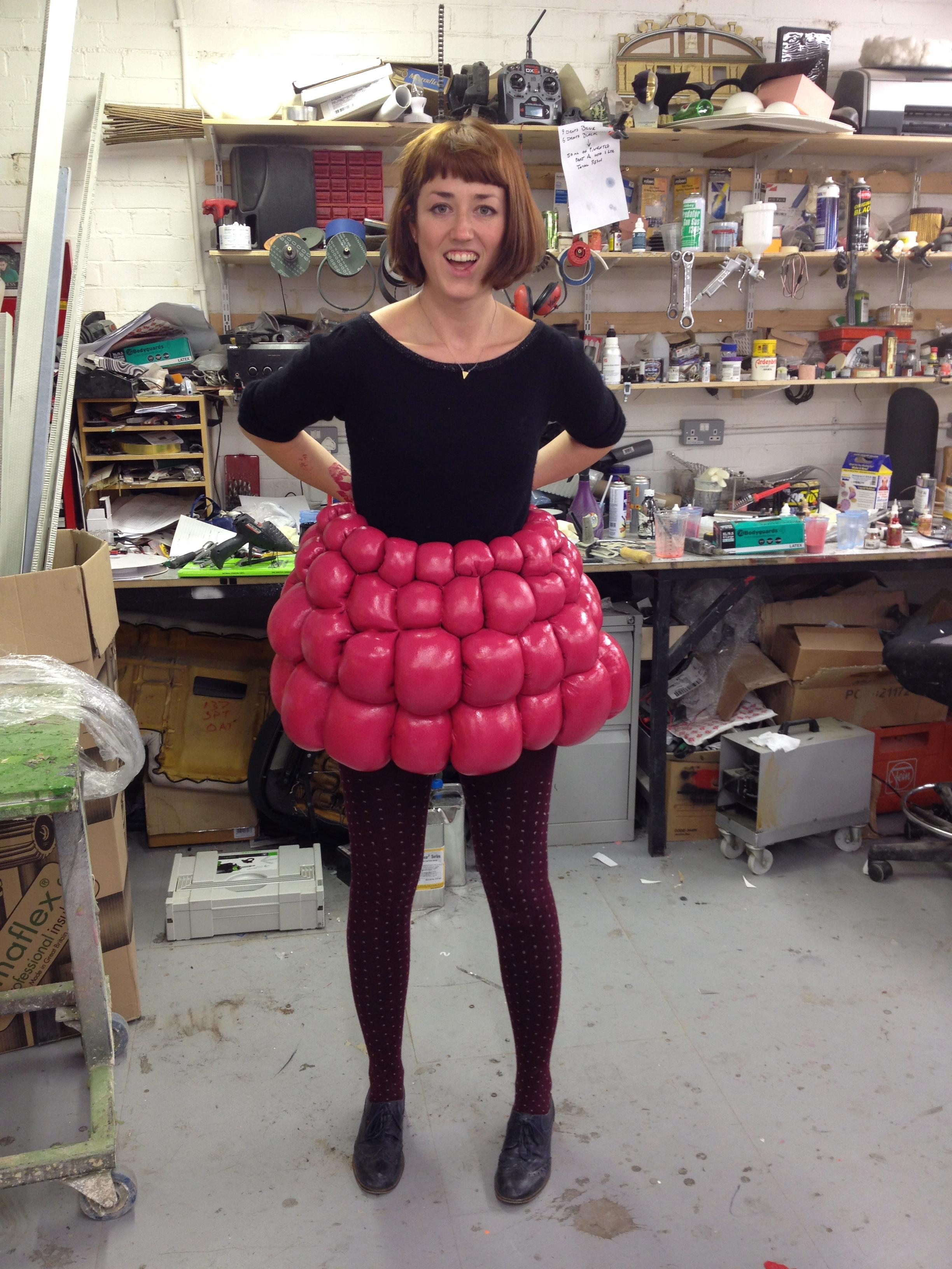 Raspberry skirt prop